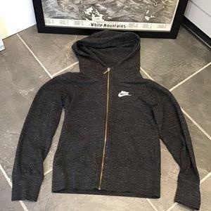 Nike Kids Athletic Full Zip Hoodie Sweatshirt Med